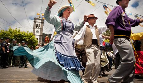 Woman dancing in parade